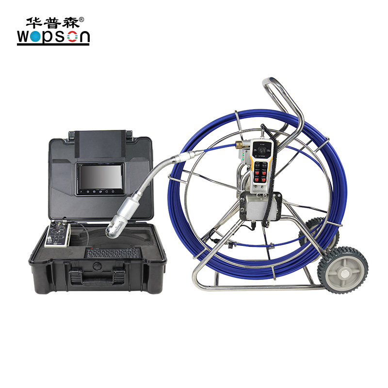 A4 WOPSON pan tilt sewer pipe inspection camera system